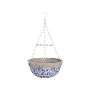 Aged ceramic hanging basket (Esschert Design - AC03 - 8714982022449) 1