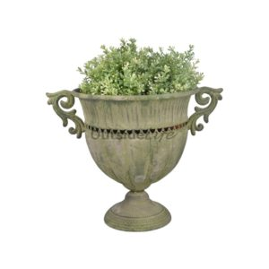 Aged Metal Green vaas rond L (Esschert Design - AM68 - 8714982115684) 1