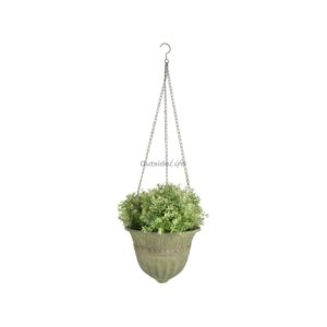 Aged Metal Green hanging basket L (Esschert Design - AM73 - 8714982115738) 1