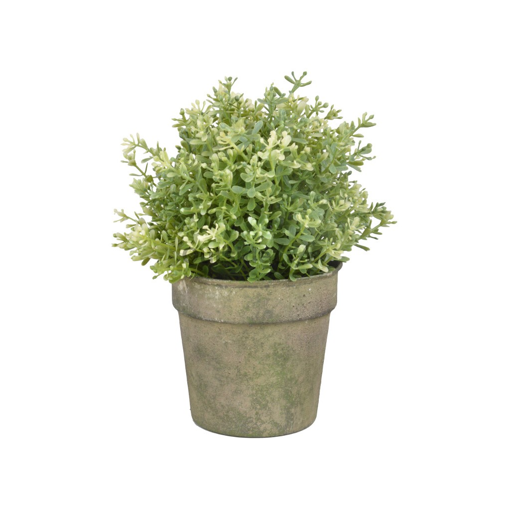 Aged Metal Green bloempot (Esschert Design - AM92 - 8714982116155) 1