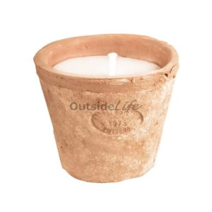 Aged Terracotta pot met kaars S (Esschert Design - AT20 - 8714982085086) 1