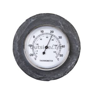 Leisteen thermometer rond (Esschert Design - LS226 - 8714982059940) 1