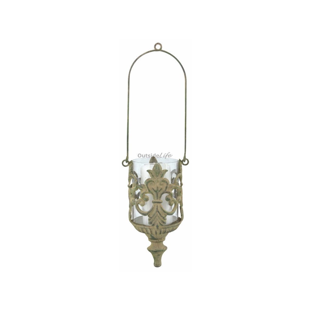 Aged Metal Green hangend windlicht (Esschert Design - AM94 - 8714982130045) 1