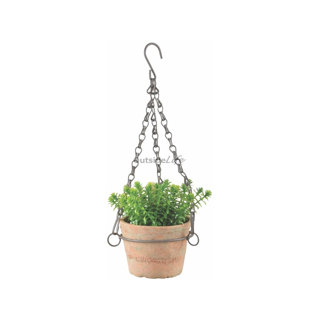 Aged Terracotta pot hangend klein (Esschert Design - AT27 - 8714982129711) 1