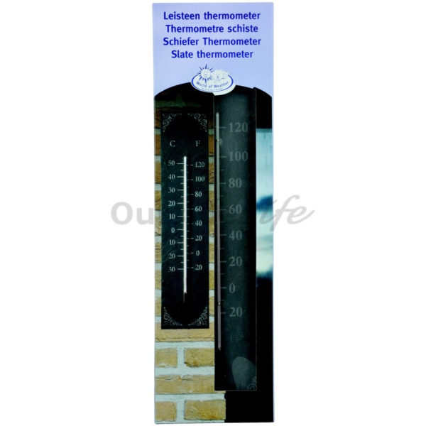 Leisteen thermometer klassiek (Esschert Design - LS006 - 8714982014260) 4