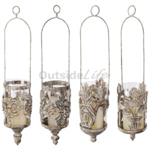 Aged Metal hangend windlicht ( - AM07 - 8714982040719) 1