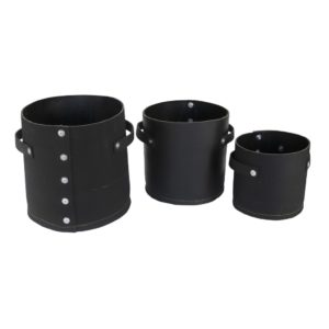 Esschert Design Gerecycled rubber pot rond S set/ 3 (WB42